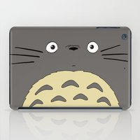 studio ghibli iPad Cases featuring My neighbor troll - Studio Ghibli by Drivis