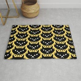 Mid Century Modern Cat Black Yellow Rug