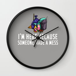 Funny Custodian Gift Janitor Janitorial Wall Clock