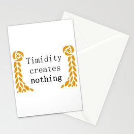 """Circe by Madeline Miller: """"Timidity creates nothing"""" Stationery Cards"""