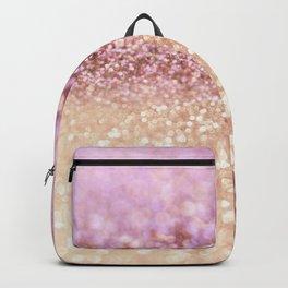 Mermaid Rose Gold Blush Glitter Backpack