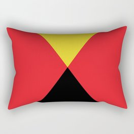Other Rhombuses, one on another, floating in a red sea. Rectangular Pillow
