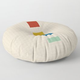 four elements || tweed & primary colors Floor Pillow