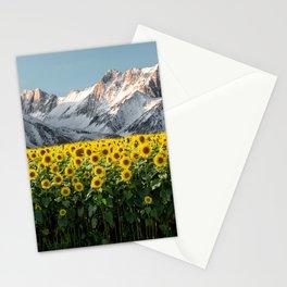Sierra Nevada Mountains-California Sunflowers Stationery Cards