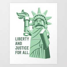 Liberty and Justice Art Print