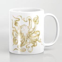 Gold Octopus Coffee Mug
