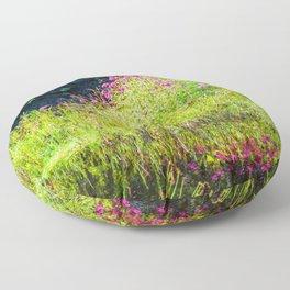 Monet's creek Floor Pillow