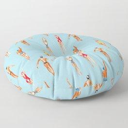 swimmer pattern Floor Pillow