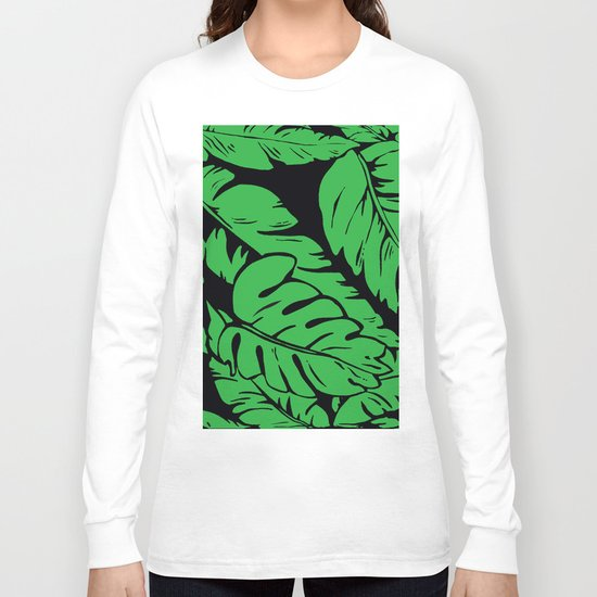 PALM LEAF GREEN Long Sleeve T-shirt