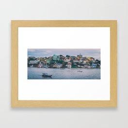 brazilian favela on the water Framed Art Print
