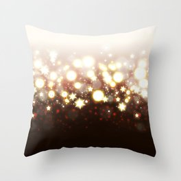 Stars Can't Shine Without Darkness sparkly lights stardust and fireworks art Throw Pillow