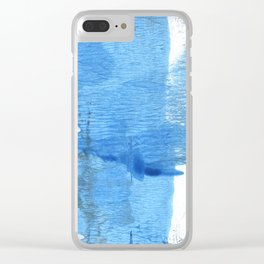 Corn flower blue hand-drawn wash drawing paper Clear iPhone Case