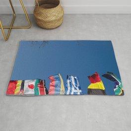 All flags blue sky Rug