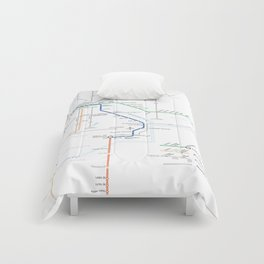 Twin Cities METRO System Map Comforters