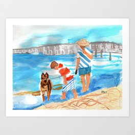 A Day at the Beach (finished) Art Print