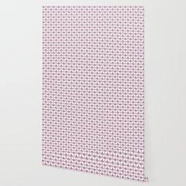 Playing Cards Pattern Pink Grey on White Wallpaper