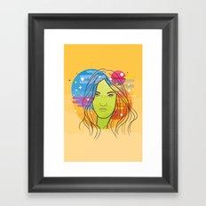 her dreams Framed Art Print