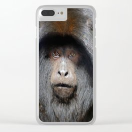 Black Howler Monkey Clear iPhone Case