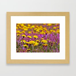 Alice In Wonderland Flower Field Framed Art Print