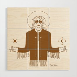 Queen of the Cosmos Wood Wall Art