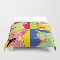 sphynx Duvet Covers featuring Sphynx cat by LaDa