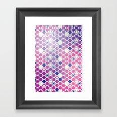 Stars Pattern #001 Framed Art Print