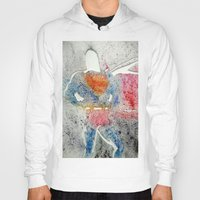 superman Hoodies featuring Superman by Jennifer Cooper