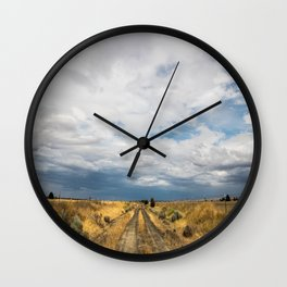 Dusty Road Wall Clock