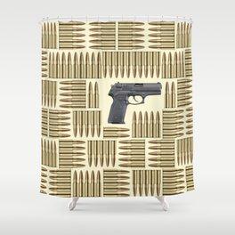Gun and bullets Shower Curtain