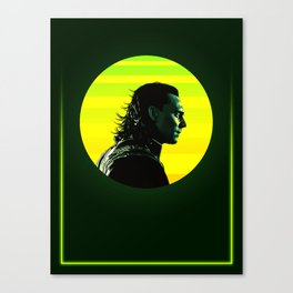 Loki 80's Character Poster Canvas Print