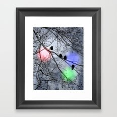 Polar Crows Framed Art Print