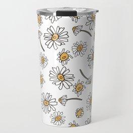 Wild Flowers Daisies Surface Pattern Design Travel Mug