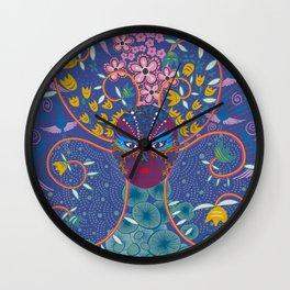 Kabuki Chick at night Wall Clock