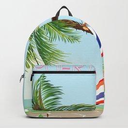 puerto rico hammock beach poster Backpack