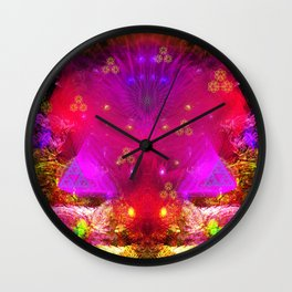 Passion Lily of Titan Wall Clock