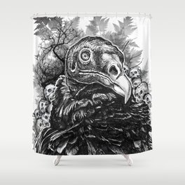 Vulture and Pine Shower Curtain