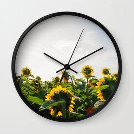 Sunflower Fields, 2014 Wall Clock
