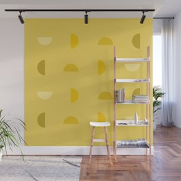 Yellow Phases Wall Mural