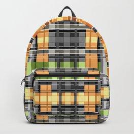 Grey-yellow  beautiful  plaid Backpack