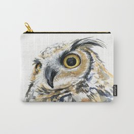 Owl Great Horned Bird of Prey Owls Animals Bird Wildlife Carry-All Pouch