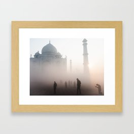 Prayer at the Taj Mahal Framed Art Print