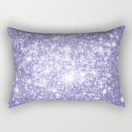 Galaxy Sparkle Dark Lavender Rectangular Pillow