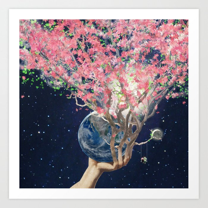 Love Makes The Earth Bloom Art Print