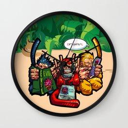 The Three Wise Monkeys Wall Clock