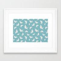 origami Framed Art Prints featuring Origami by Albardado