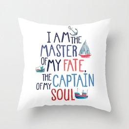 Nautical Typography Throw Pillow