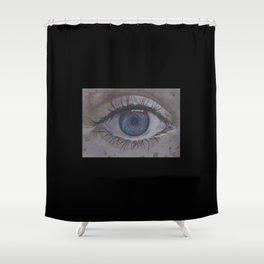 Eye 1# Rose Shower Curtain