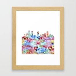 Denver City Skyline Colorado Framed Art Print
