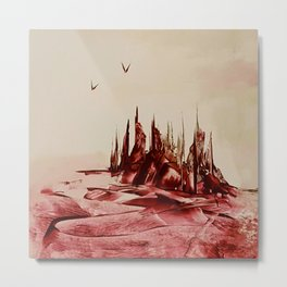 Red Alienlandscape Metal Print