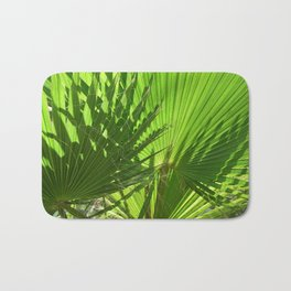 Shades of Palm Leaves Bath Mat